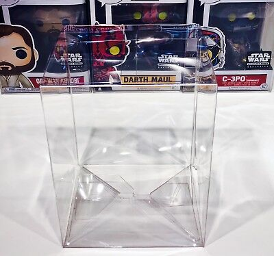 "15 FUNKO POP! 4"" Box Protectors! Acid Free Crystal Clear Cases For Vinyl Figures 10"