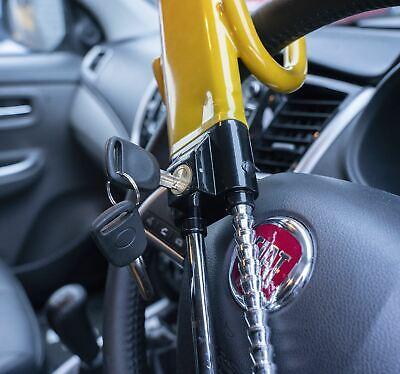 Steering Wheel Lock High Security Anti Theft Twin Bar for Vauxhall Mokka 12-On 2