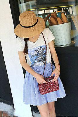 Floppy Foldable Ladies Women Straw Beach Sun Summer Hat Beige Wide Brim SumDLUK 3