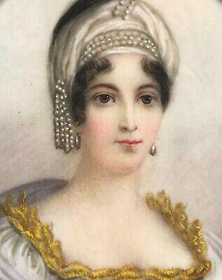 Miniatur Gemälde Brustporträt Maria Laetitia Ramolino Mutter Napoleon Resch~1780 2