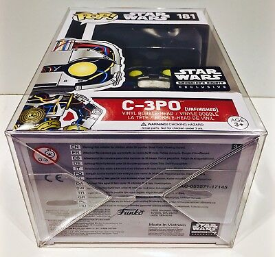 """60 FUNKO POP! Box Protectors For 4"""" Vinyl Figures  Crystal Clear Display Cases 6"""