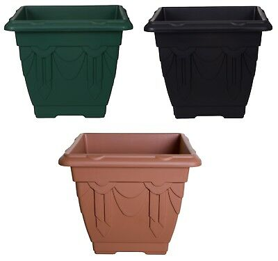 Plastic Square Rectangular Venetian Plant Flower Pot Pots Planter Container 2