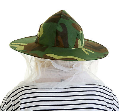 2 x Beekeeping CAMOUFLAGE BEE HAT AND VEILS - Double hoop and toggle 2