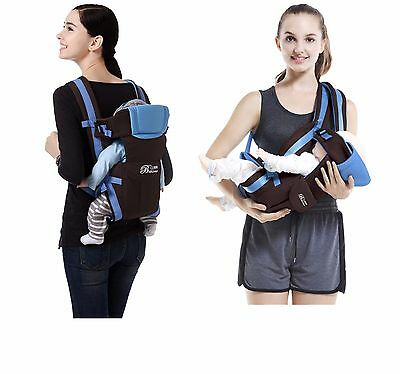 New Ergonomic Strong Breathable Adjustable Infant Newborn Baby Carrier Backpack 2