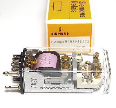 Telegraphenrelais Kleinpolrelais Siemens V2300.. mit Fassung Goldkontakte
