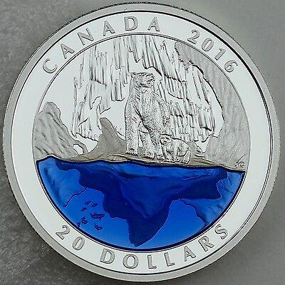 2016 $20 Masters Club Coin #3 – 99.99% Pure Silver Polar Bear with Blue Enamel 2