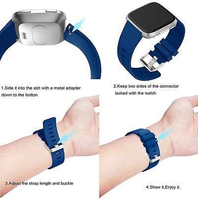 Replacement Silicone Wrist Sports Band Strap Wristband For Fitbit Versa /Lite 9