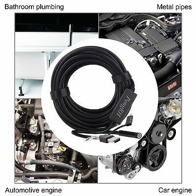 5M/17FT Plumber Pipe Inspection Camera Endoscope Video Waterproof Sewer Drain GG 5