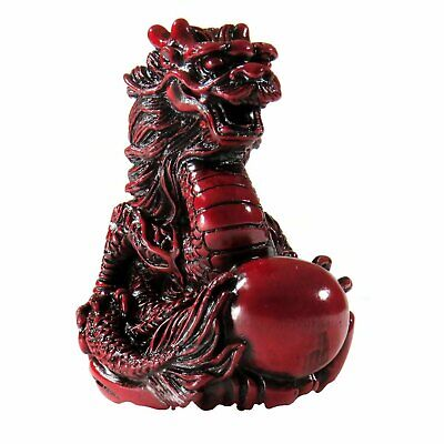 NEW RED Chinese Feng Shui Dragon Figurine Statue for Luck & Success 2