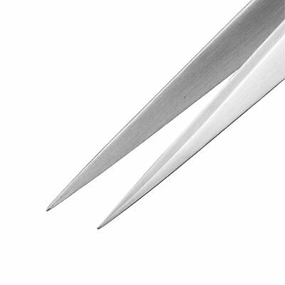 TWEEZERS fine pointed tip, straight, stainless steel 150mm pointy Engineer PT-02