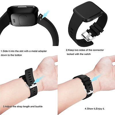 Replacement Silicone Watch Wrist Sports Strap Band For Fitbit Versa Wristband 2