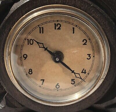 Antique Carved Ibex Black Forest Bracket / Mantel Clock 8