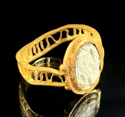 Ancient Roman Gold Ring; Open Work Swirls; 100 Bc - 200 Ad; Elegant & Wearable! 4