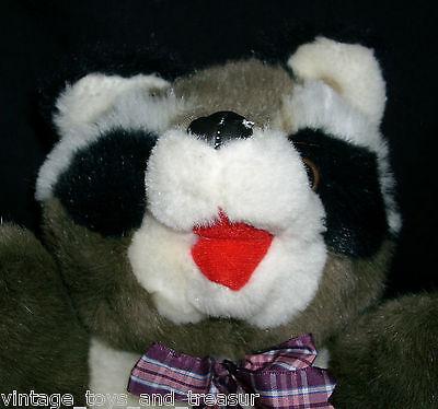 12 Cuddle Wit Gray White Black Baby Raccoon Stuffed Animal Plush