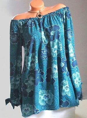 ITALY große Gr.48,50,52,Tunika,Bluse,Shirt,Longshirt,Oversitze,moderne Print,NEU