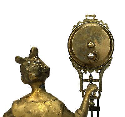 German Style Junghans Brass Barmaid Figure 8 Day Swinging Swinger Clock 6