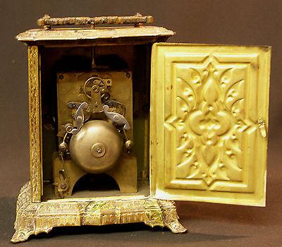 C1 1900 MUCHA superbe pendule pendulette Art nouveau bronze 17c1.7kg clock déco 10