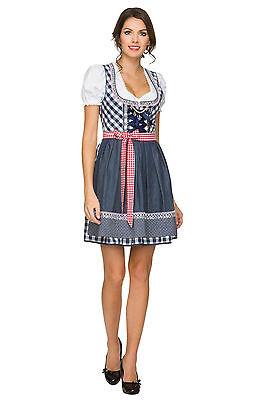 3tlg Dirndl Oktoberfest German Bavarian Traditional Beer Girl Costume