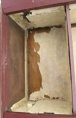 18/19 Century Delicate Early American Primitive Hanging Cupboard Red Paint 6