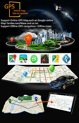 """Android 8.1 Double 2Din 10.1"""" HD Quad-Core Car Stereo Radio GPS Wifi Mirror Link 9"""