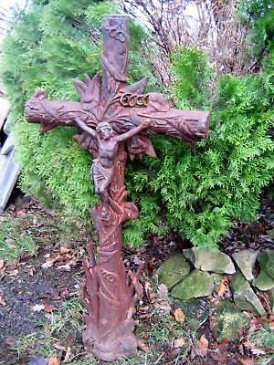Großes Eisernes Kreuz Grabmal Jesus Gusskreuz  Kruzifix