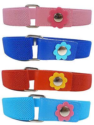 Kids Belts/Girls Belt. Girls 1-6 Years Elasticated Belt with Flower Design 2