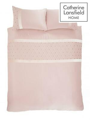 Catherine Lansfield Sequin Cluster Blush Luxury Duvet Cover Set or Accessories 4