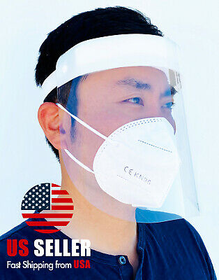 White Safety Full Face Shield Reusable Washable Protection Face Mask Anti-Splash 5