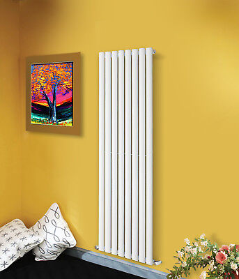 Vertical Tall Upright Designer Radiator Oval Column Central Heating Radiators 3