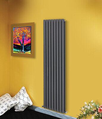 Designer Vertical Oval Column Tall Upright Central Heating Radiator Anthracite 3