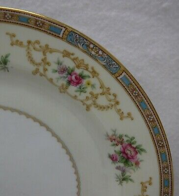NORITAKE china COLBY BLUE 5032 pttn 7-piece Place Setting w/ Fruit & Soup Bowls 3
