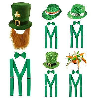 ST PATRICK`S DAY FANCY DRESS COSTUME Irish Party Girls Accessory Clover Lot UK