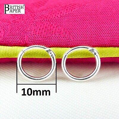 Girls 925 Sterling Silver 8mm -20mm Small Tiny Hinged Hoop Sleeper Earrings Pair 10