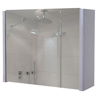 Spiegelschrank Hwc B19 Wandspiegel Badspiegel Badezimmer Aufklappbar Hochglanz Eur 96 42 Picclick De
