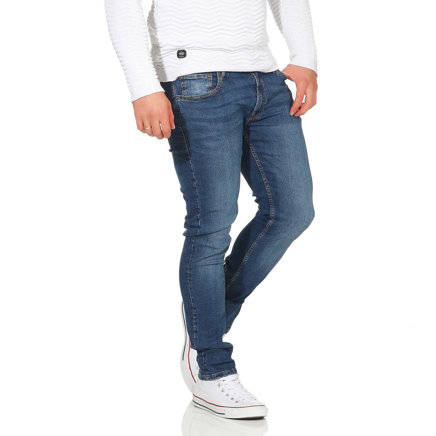d34a4692d40 Jack   Jones Homme Coupe Skinny Stretch Pantalon Jeans Liam Original en  Bleu - 4 4 sur 9 ...