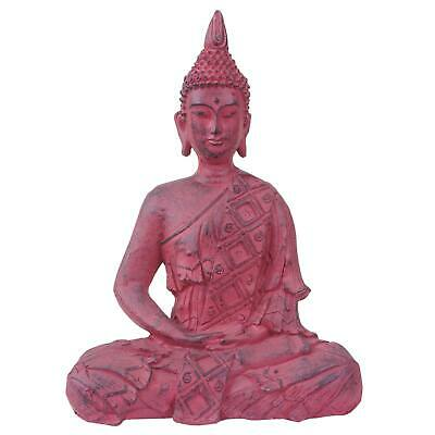 Buddha Skulptur sitzend 42cm Tempelbuddha Figur Polyresin Dekoration Feng Shui
