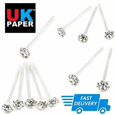 925 Sterling Silver Tiny Nose Straight Plain Studs I L Shape Solid Bar Claw Set 7