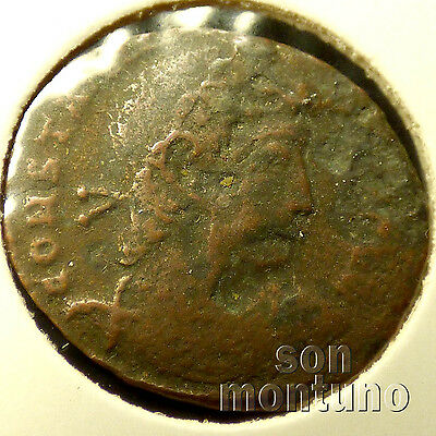 First Christian Empire ROMAN BRONZE COIN Genuine Ancient Antique from 306-410 AD 6