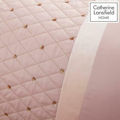 Catherine Lansfield Sequin Cluster Blush Luxury Duvet Cover Set or Accessories 3