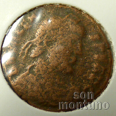 First Christian Empire ROMAN BRONZE COIN Genuine Ancient Antique from 306-410 AD 4