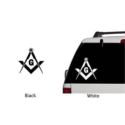 MASONIC FREEMASON DECAL Compass Square Decor Car Truck Emblem Sticker Hot  Sale