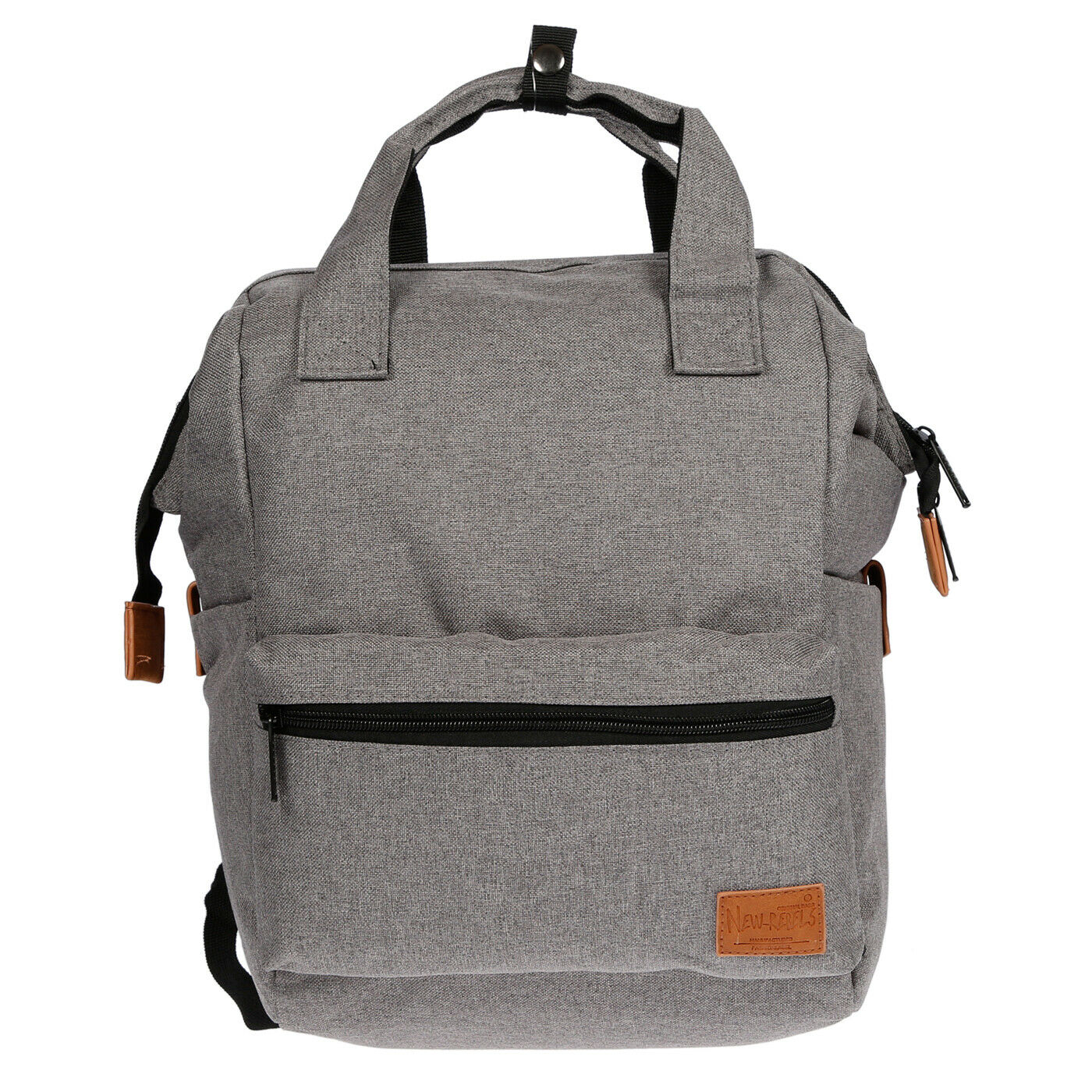 DAMEN CANVAS RUCKSACK Tablet Laptop Fach Tasche Schwarz Grau
