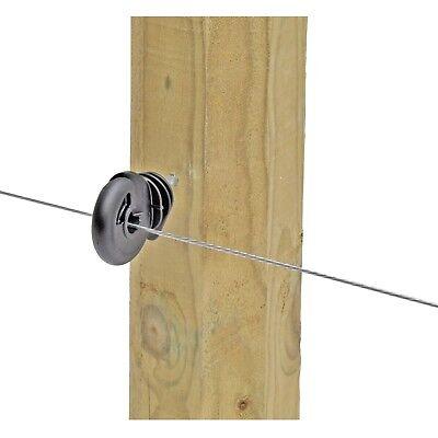 100 x Ringisolatoren Weidezaun Pfahl Litze Band Holz Isolator 44306