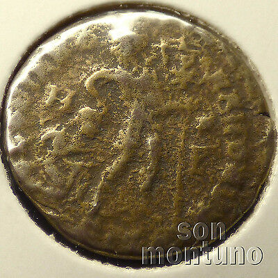 First Christian Empire ROMAN BRONZE COIN Genuine Ancient Antique from 306-410 AD 11