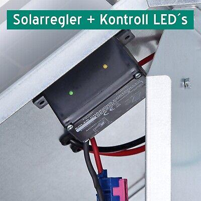 SOLAR-BOX 10W /& 12V WeidezaungerätElektrozaun Weidezaun Schafzaun Pferdezaun