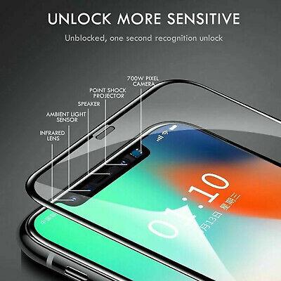 10D Complet Housse Protection Écran en Verre Trempé pour Iphone 7 8 X XR XS Max 3