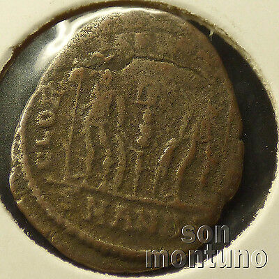 First Christian Empire ROMAN BRONZE COIN Genuine Ancient Antique from 306-410 AD 5