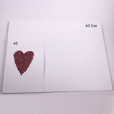 White Card Thick 300gsm 380 micron A5 A4 A3 SRA2 Card Making Smooth Craft 7