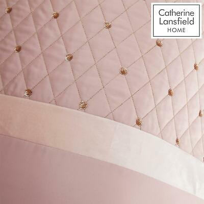 Catherine Lansfield Sequin Cluster Blush Luxury Duvet Cover Set or Accessories 6