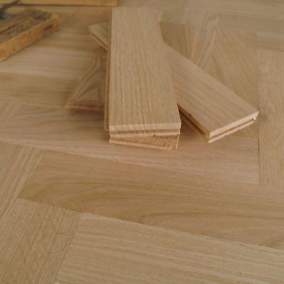 1ft Red Oak Herringbone Parquet Flooring Unfinished Prime Solid